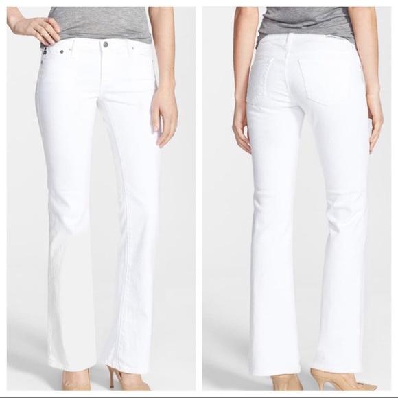 Ag Adriano Goldschmied Denim - AG  Angelina petite bootcut sz 27 jeans white